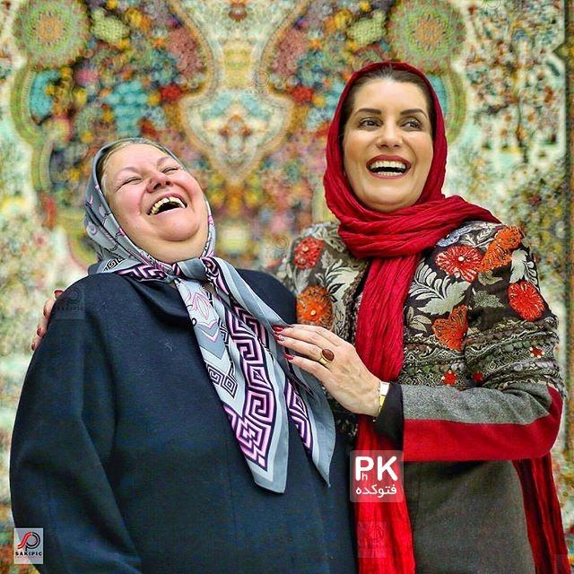 عکس فریبا کوثری در کنار مادرش