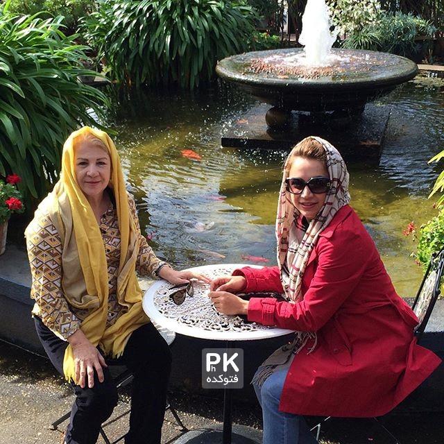 عکس شبنم قلی خانی در کنار مادرش