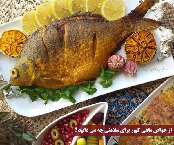 خواص ماهی کپور برای زنان و مردان و کودکان + غذای ماهی کپور