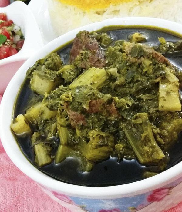 طرز تهیه خورشت کرفس خوشمزه با گوشت