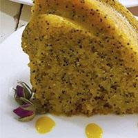 کیک خرفه زعفرانی