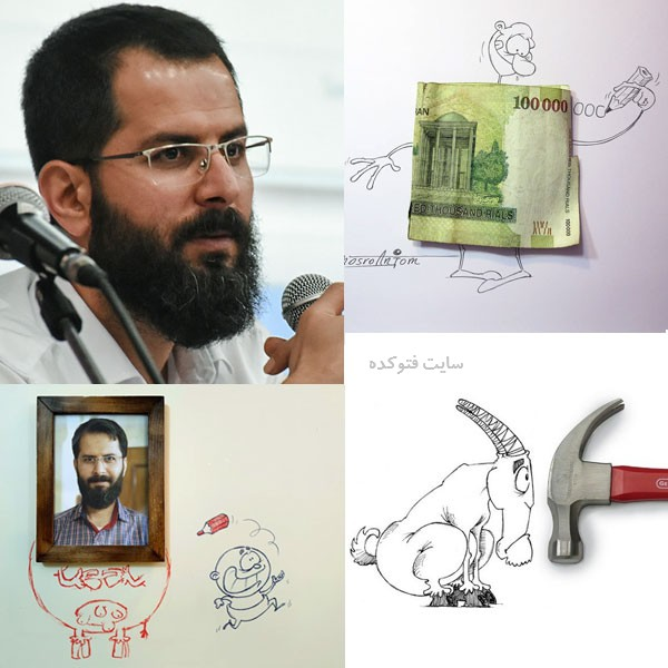 عکس هایمجید خسروانجم + کاریکاتورهایش