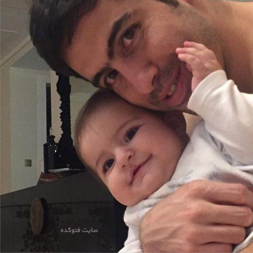 عکس خسرو حیدری و دخترش روشنا
