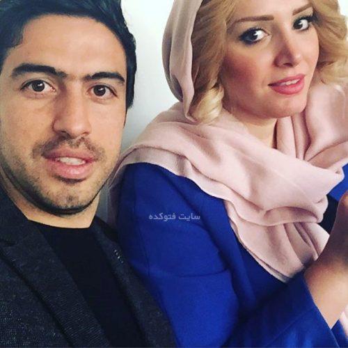عکس خسرو حیدری و همسرش