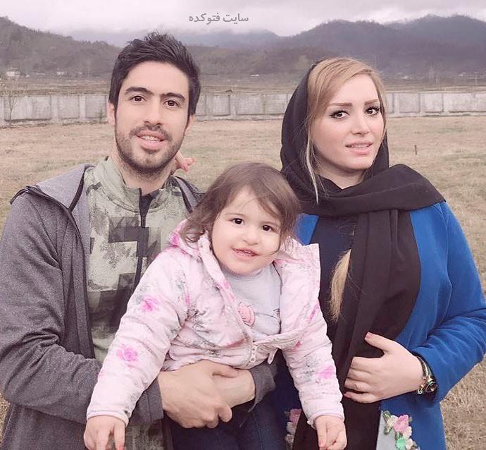 عکس خانوادگی خسرو حیدری و همسرش + دخترش روشنا