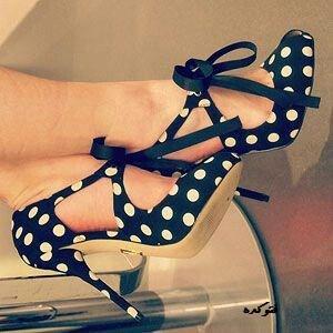 مدل جددی کفش پارچه ای پاشنه بلند زنانه2014