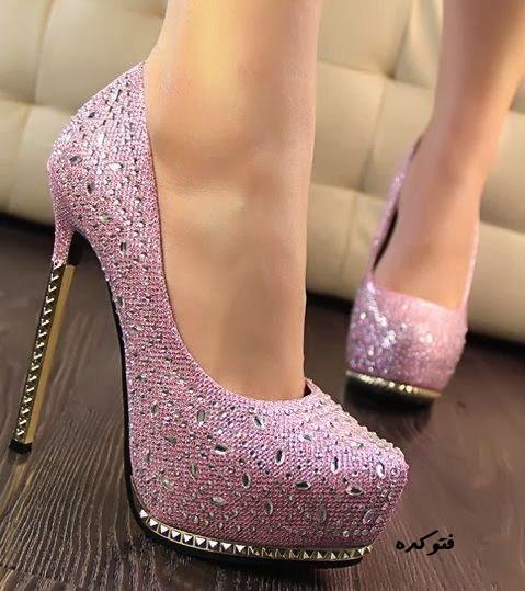 مدل های جدید کفش پاشنه بلند و صورتی 2014 مجلسی