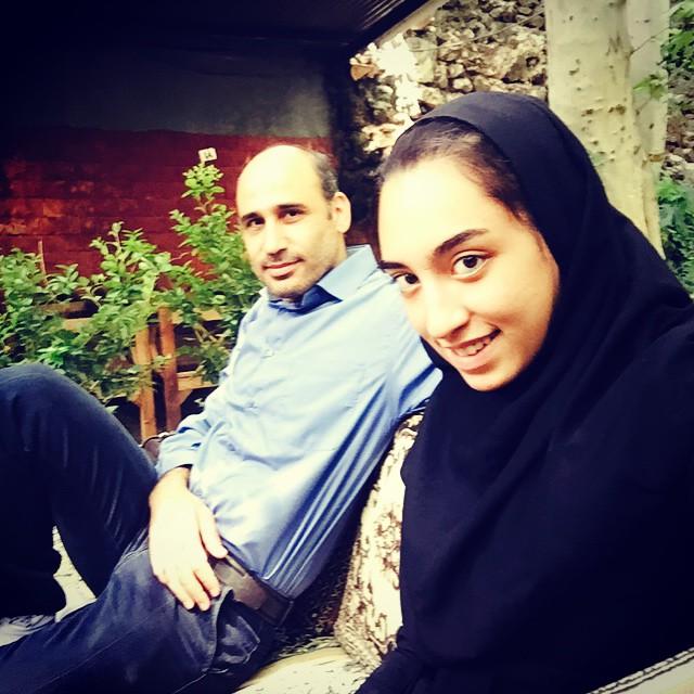 عکس کیمیا علیزاده و پدرش