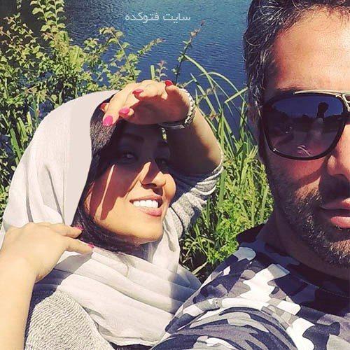 کیمیا بابائیان و همسرش فرشاد حسینی
