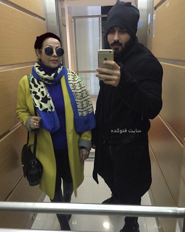 عکس کامران بختیاری و مادرش