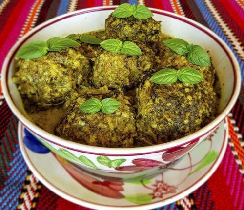 طرز تهیه کوفته سبزی شیرازی + عکس و دستور پخت راحت