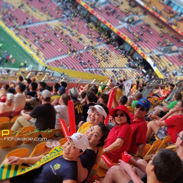 عکس تماشاگران بازی استرالیا و کره جنوبی,تماشاگران استرالیا و کره جنوبی در جام ملت های آسیا 2015,تماشاگران زن و مرد جام ملت های آسیا 2015 بازی کره و استرالیا,عکس بازی کره جنوبی و استرالیا جام ملتهای اسیا 2015,تصاویر بازی کره جنوبی و استرالیا