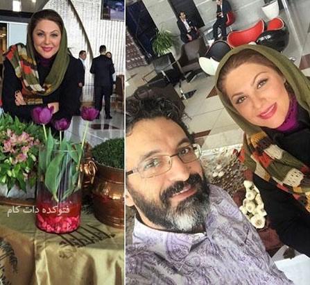 عکس لاله اسکندری و همسرش ساسان فیروزی + بیوگرافی