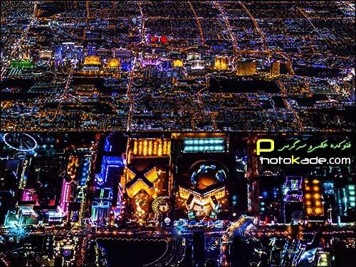 عکس های جالب از شب لاس وگاس,عکس هوایی از لاس وگاس آمریکا,عکس های دیدنی هوایی از لاس وگاس آمریکا,عکاسی هوایی در شب,عکس لاس وگاس,عکس جالب,عکسهای لاس وگاس