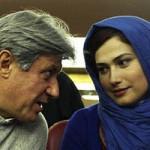لادن مستوفی و همسرش با بیوگرافی