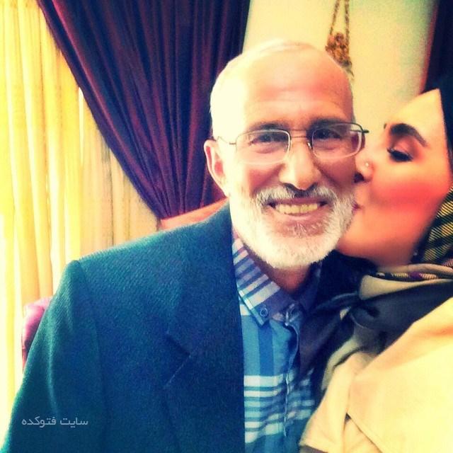 عکس لیلا بلوکات و پدرش + بیوگرافی