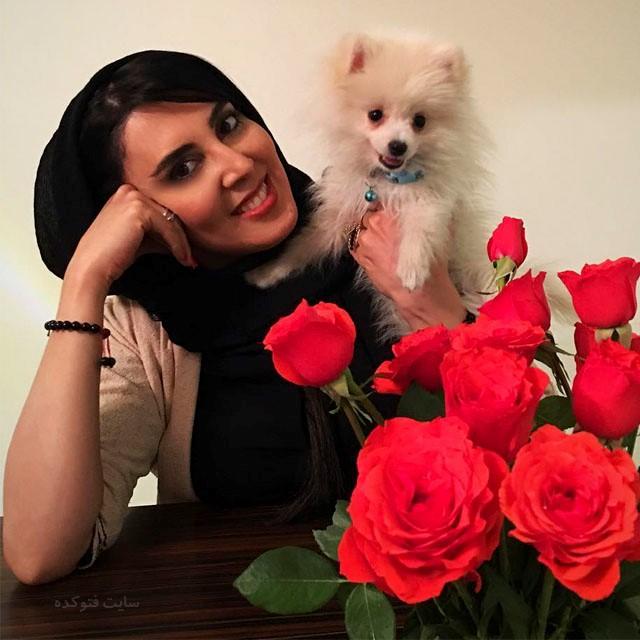 عکس لیلا بلوکات و سگ اش + زندگی شخصی