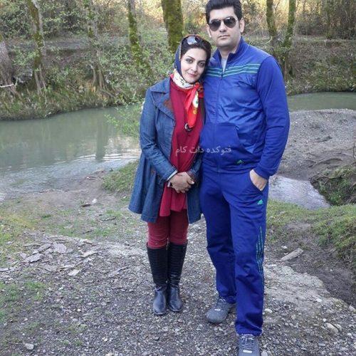 عکس لیلا ایرانی و همسرش حامد زیبایی