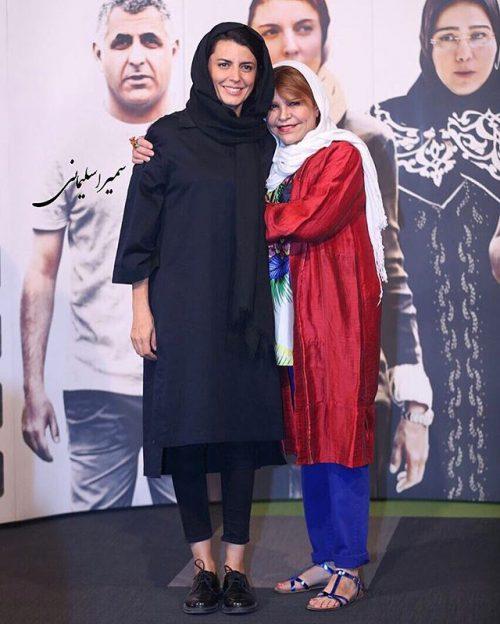عکس لیلا حاتمی در کنار مادرش زری خوشکام (زهرا حاتمی)