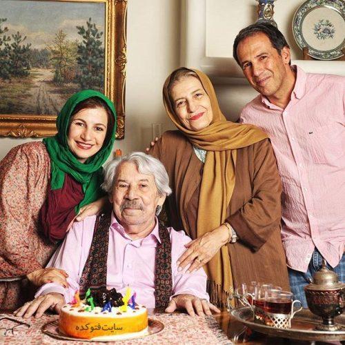 عکس خانواده داوود رشیدی - فرهاد - لیلی - و احترام برومد
