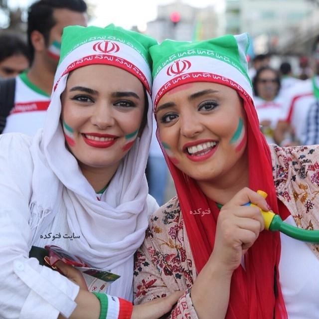 عکس لیندا کیانی و نرگس محمدی در جام جهانی