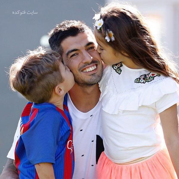 عکس های لوییس سوارز و فرزندان + زندگینامه شخصی