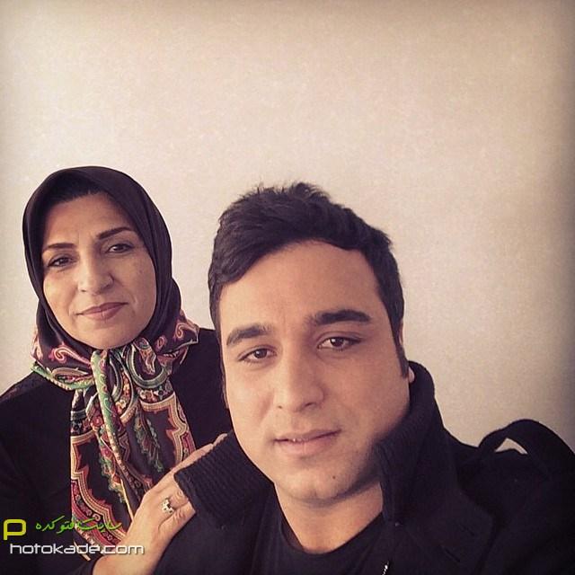 چالش عکس با مادر احسان حدادی,عکس سلفی احسان حدادی و مادر,عکس احسان حدادی و مادرش,عکسهای جنیش احترام مادران سرزمینم,عکس احترام مادران سرزمینم