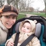 عکس ماه چهره خلیلی و پسرش در لندن