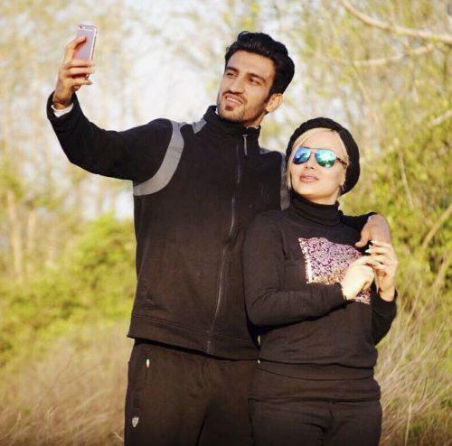 عکس حسین ماهینی و همسرش + ماجرای جنجال ها