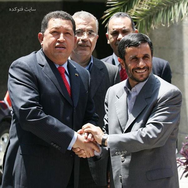 Mahmoud Ahmadinejad و هوگو چاوز