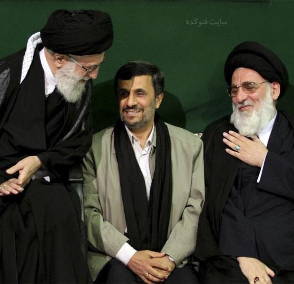 عکس های آیت اللههاشمی شاهرودی با احمدنژاد و رهبری