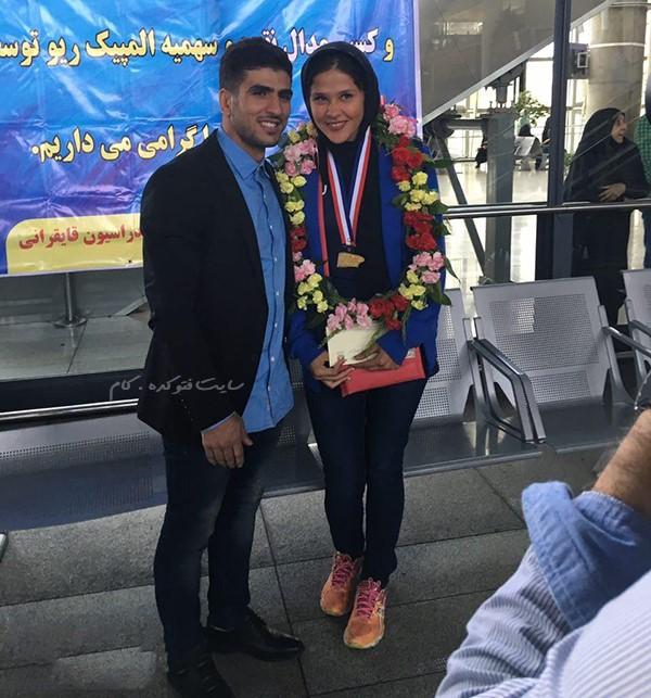 عکس مهسا جاور و همسرش محسن محمدسیفی