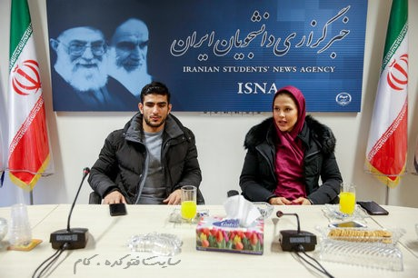 محسن محمدسیفی و همسرش