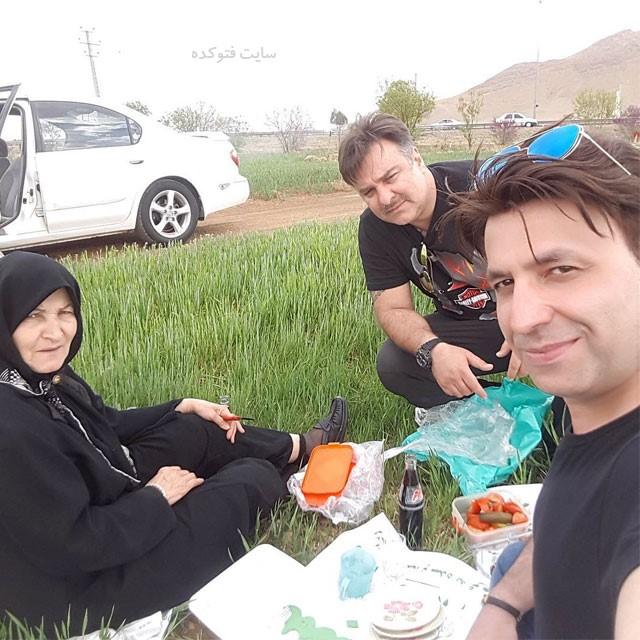 مجید سعیدی در کنار مادر و برادرش + بیوگرافی