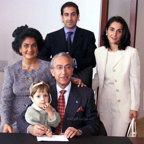عکس دختر و پسر پروفسور مجید سمیعی و همسرش