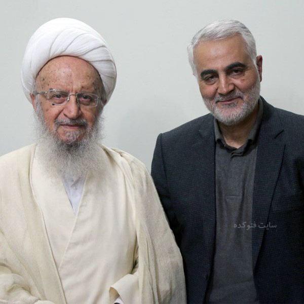 زندگینامه آیت الله مکارم شیرازی و عکس با سردار سلیمانی