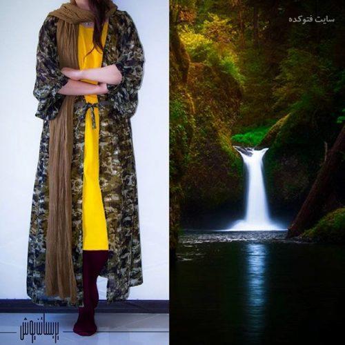 مدل مانتو کیمونو جلو باز شیک دخترانه 1396