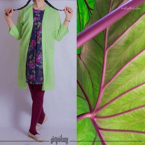 عکس مدل مانتو کیمونو جلو باز شیک دخترانه 1396