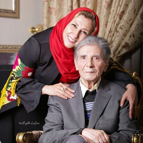Marjaneh Golchin با مرحوم عمویش نادر گلچین