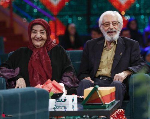 عکس جمشید مشایخی و همسرش گیتی رئوفی