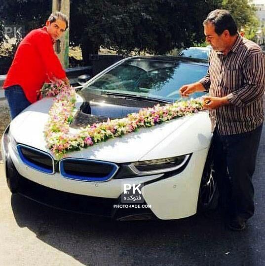 ماشین میلیاردی عروس در ایران,معروف ترین ماشین عروس میلیاردی در تهران,عکس ماشین عروس بچه پولدارها,عکس BMW i8 ماشین عروس در تهران,بی ام و معروف ماشین عروس شد