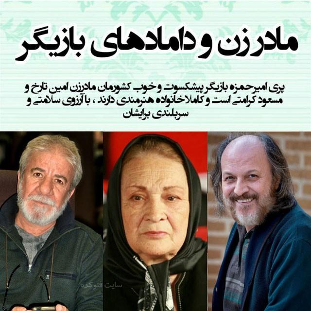 مسعود کرامتی باجناق امین تاریخ و داماد پری امیرحمزه
