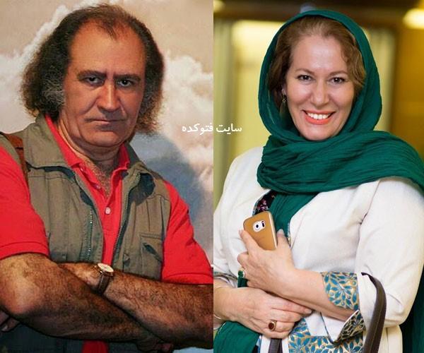 معصومه آقاجانی و همسرش