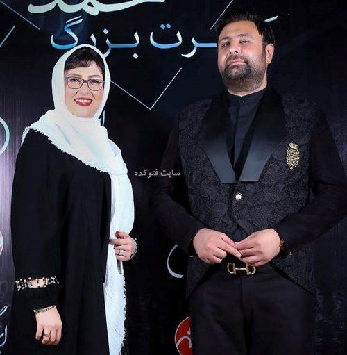 عکس معصومه کریمی بازیگر  + محمد علیزاده خواننده