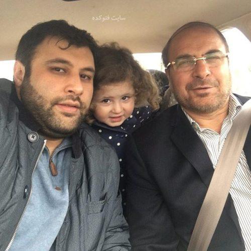 عکس محمدباقر قالیباف در کنار پسرش الیاس و نوه اش + بیوگرافی