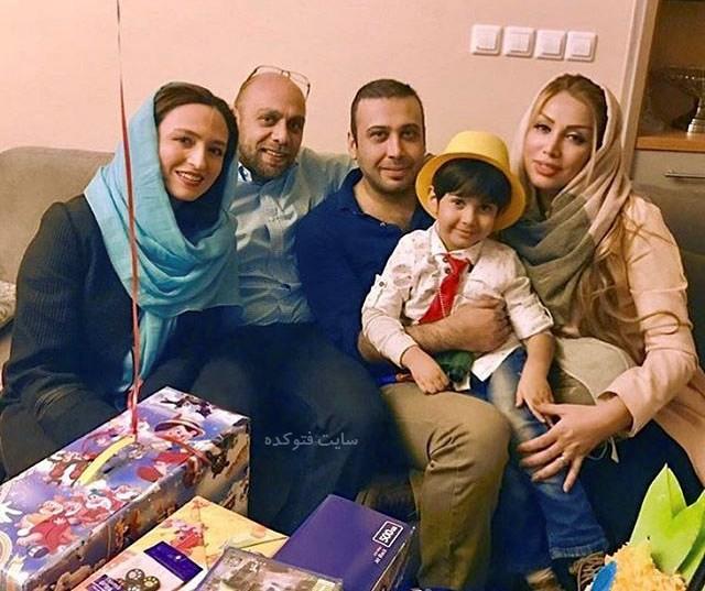 عکس خانوادگی محسن چاوشی و گلاره عباسی