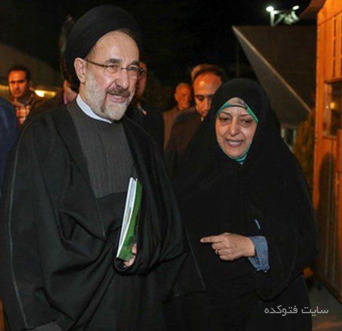 معصومه ابتکار و سید محمد خاتمی