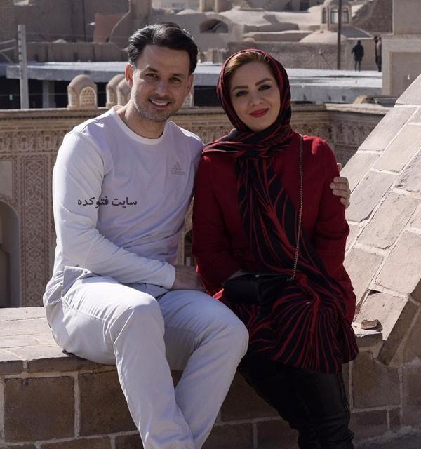 عکس مهدی توتونچی مجری ورزش با همسرش مبینا نصیری مجری جنجالی تلویزیون