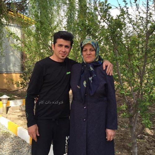 مهدی امیرآبادی و مادرش , عکس مادر مهدی امیرآبادی
