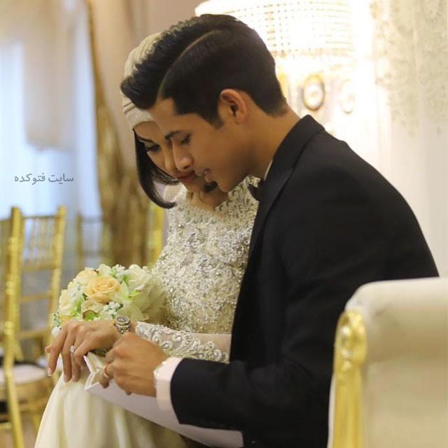 مهدی قائدی و همسرش + عکس عروسی